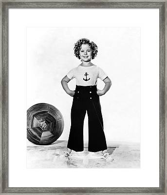 Actress Shirley Temple Framed Print by Underwood Archives