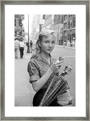 Actress Susan Oliver Framed Print by The Harrington Collection