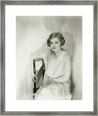 Actress Tallulah Bankhead Framed Print by Nickolas Muray