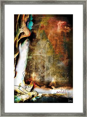 Acts 1 Framed Print by Switchvues Design