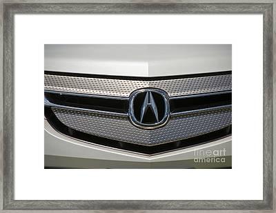 Acura Grill Emblem Close Up Framed Print