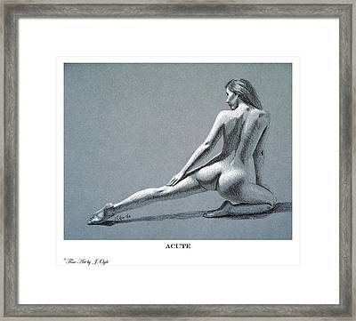 Acute Print Version Framed Print by Joseph Ogle