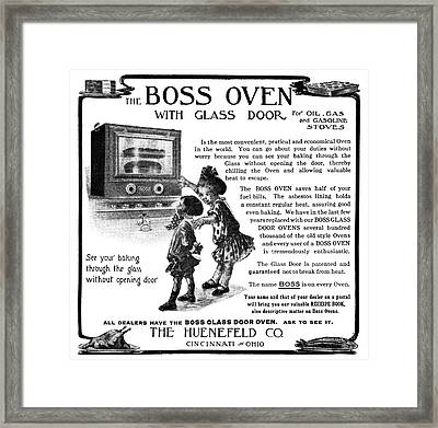 Ad Boss Oven, 1911 Framed Print by Granger