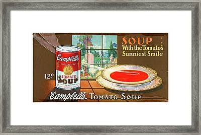 Ad Campbell's Soup, C1925 Framed Print