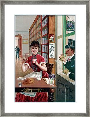 Ad Cigarettes, C1886 Framed Print