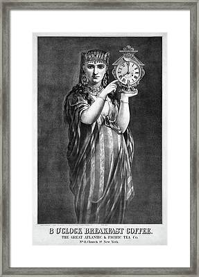 Ad Coffee, 1877 Framed Print by Granger