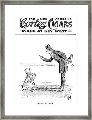 Ad Cortez Cigars, 1919 Framed Print by Granger