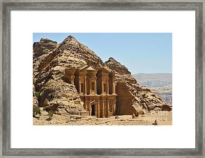 Ad Deir In Petra Framed Print by Jelena Jovanovic