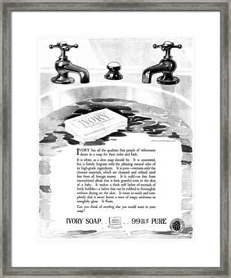 Ad Ivory Soap, 1919 Framed Print