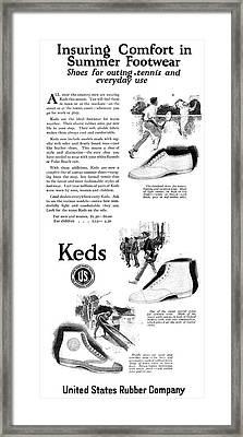 Ad Keds, 1920 Framed Print