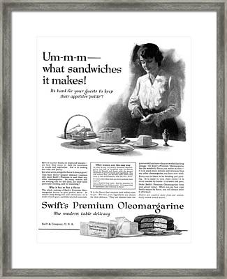 Ad Margarine, 1918 Framed Print by Granger