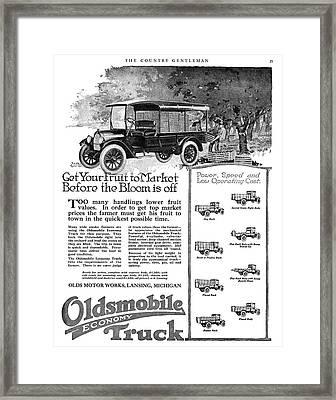 Ad Oldsmobile, 1919 Framed Print by Granger