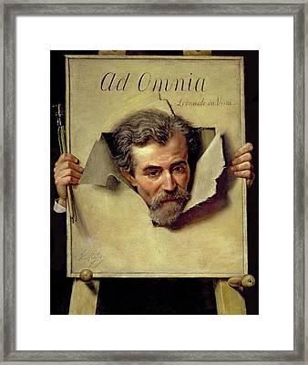 Ad Omnia Leonardo Da Vinci, Thought Framed Print