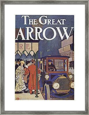 Ad Pierce-arrow, 1907 Framed Print by Granger