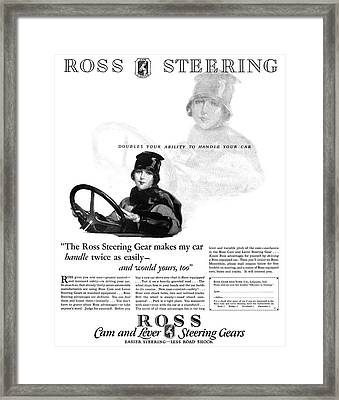 Ad Ross Steering, 1927 Framed Print