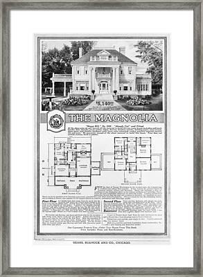 Ad: Sears Home, 1918 Framed Print