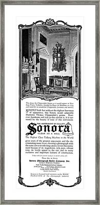 Ad Sonora, 1919 Framed Print