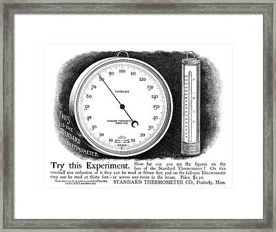 Ad Thermometer, 1890 Framed Print by Granger