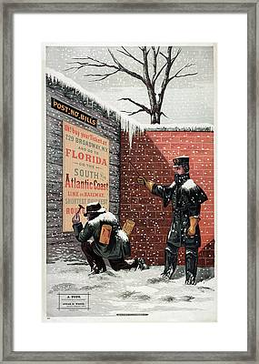 Ad Trains, 1879 Framed Print