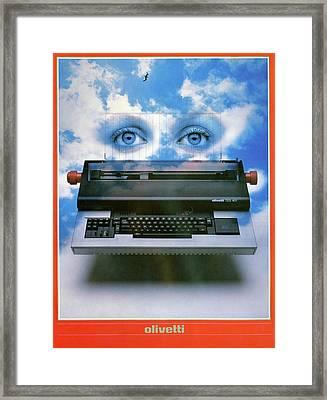 Ad Typewriter, C1975 Framed Print