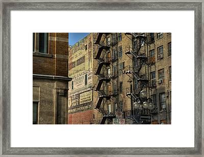 Ad Wall Framed Print by Bryan Scott