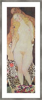 Adam And Eve, 1917-18 Framed Print by Gustav Klimt