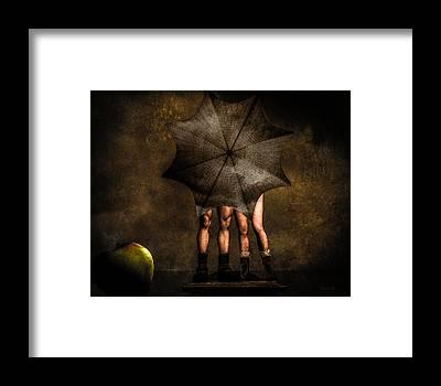 Umbrellas Framed Prints