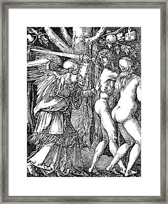 Adam And Eve Etching By Albrecht Durer Framed Print