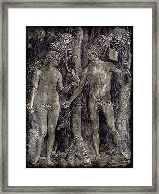 Adam And Eve - Featured In Comfortable Art Group Framed Print