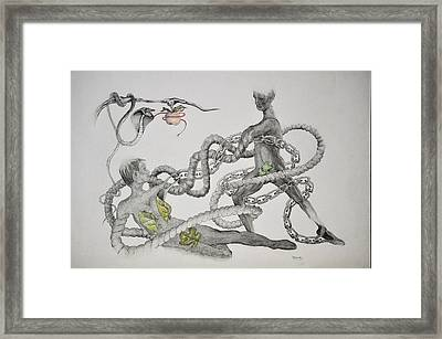 Adam And Eve Framed Print by Glenn Calloway