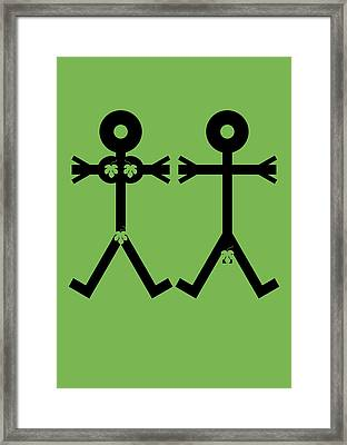 Adam And Eve Icon Framed Print