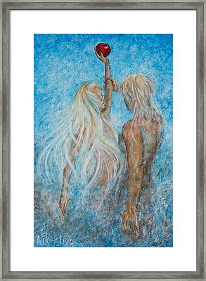 Framed Print featuring the painting Adam And Eve  by Nik Helbig