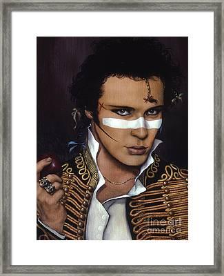 Adam Ant Framed Print by Jane Whiting Chrzanoska