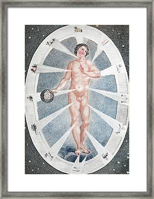 Adam As Zodiac Man Framed Print by Paul D Stewart