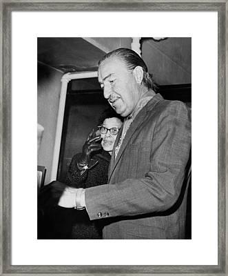 Adam Clayton Powell Retires Framed Print by Underwood Archives