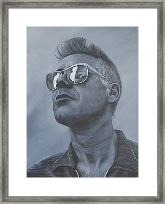 Adam Clayton U2 Framed Print