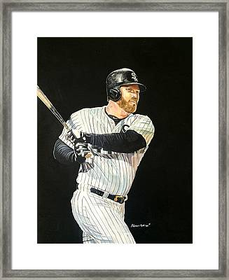Adam Dunn - Chicago White Sox Framed Print by Michael  Pattison