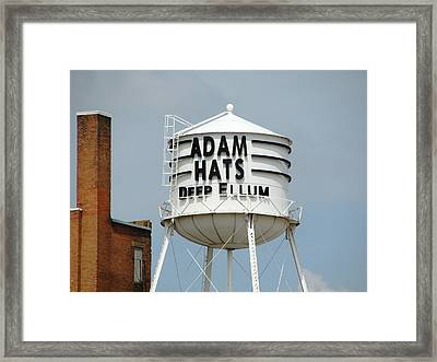 Framed Print featuring the photograph Adam Hats In Deep Ellum by Charlie and Norma Brock