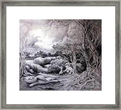 Adam In Heaven Framed Print