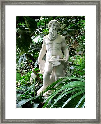 Adam In The Garden Of Eden Framed Print by Randall Weidner