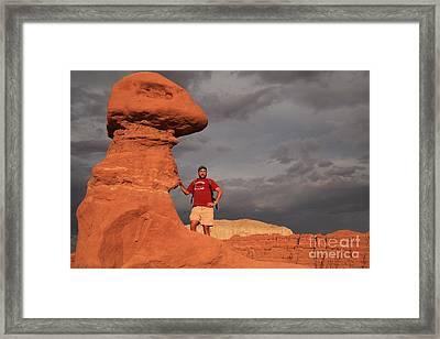 Adam Jewell At Goblin Valley Framed Print