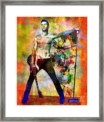 Adam Levine - Maroon 5 Framed Print by Ryan Rock Artist