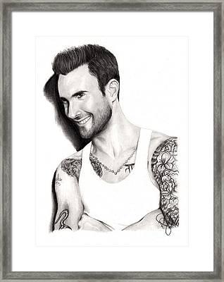 Adam Levine Framed Print by Rosalinda Markle