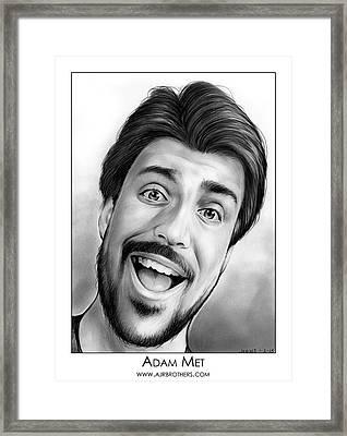 Adam Met Framed Print by Greg Joens