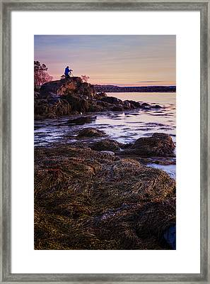 Adam On The Rocks Framed Print by Jeff Sinon
