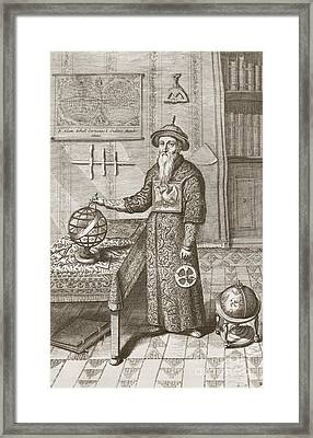 Adam Schall, German Jesuit Astronomer Framed Print by Science, Industry And Business Library