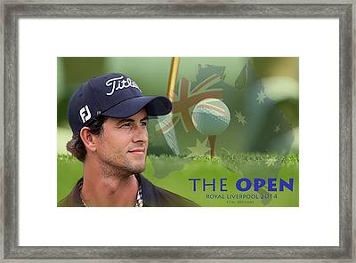 Adam Scott Framed Print