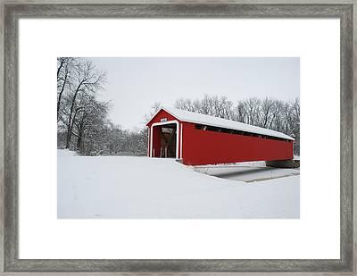 Adams County Indiana Ceylon Bridge Framed Print