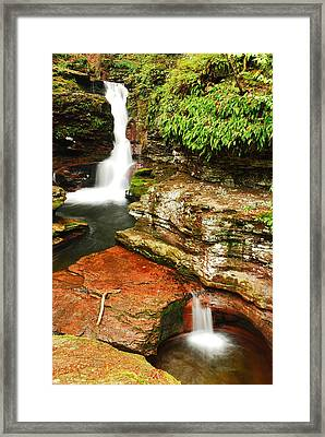 Framed Print featuring the photograph Adams Falls by James Kirkikis