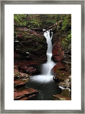 Adams Falls Framed Print by Mike Farslow